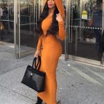 orange hood dress 3